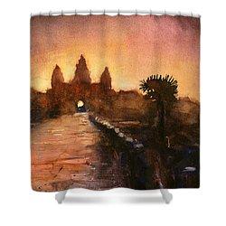 Angkor Wat Sunrise 2 Shower Curtain by Ryan Fox