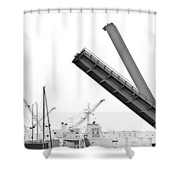Shower Curtain featuring the photograph Angle Of Approach by Stephen Mitchell