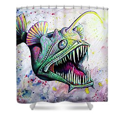 Angler Fish Shower Curtain