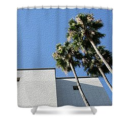 Angles And 3 Palm Tress Shower Curtain