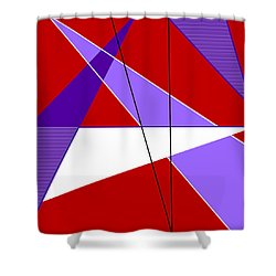 Angles And Triangles Shower Curtain