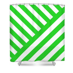 Shower Curtain featuring the digital art Angles Design With Your Custom Colors by Mark E Tisdale