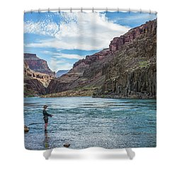 Angling On The Colorado Shower Curtain by Alan Toepfer