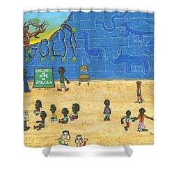 Angola   Dec Shower Curtain