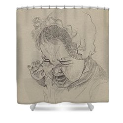 Angry Shower Curtain by Annemeet Hasidi- van der Leij