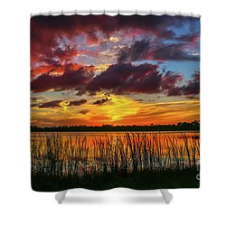 Angry Cloud Sunset Shower Curtain