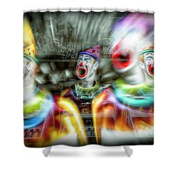 Shower Curtain featuring the photograph Angry Clowns by Wayne Sherriff