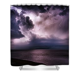 Angry Heavens Shower Curtain
