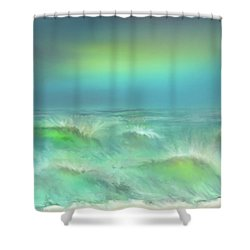Shower Curtain featuring the digital art Angry Irma by Darren Cannell