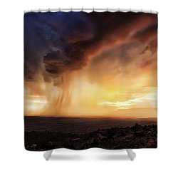 Angry Sky Shower Curtain by Rick Furmanek
