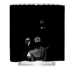 Shower Curtain featuring the photograph Anguish by Eric Christopher Jackson
