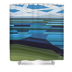 Angular Lake Shower Curtain