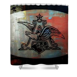 Anheuser Busch Eagle Painted Shower Curtain