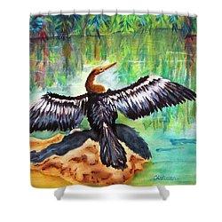 Anhinga In Paradise Shower Curtain