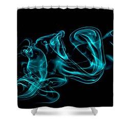Artistic Smoke Illusion Shower Curtain