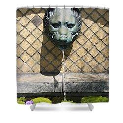 Animal Fountain Head Shower Curtain by Teresa Mucha