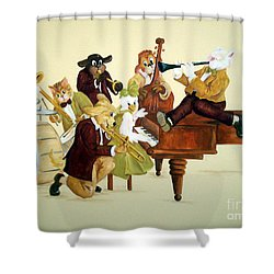 Animal Jazz Band Shower Curtain