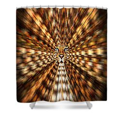 Shower Curtain featuring the painting Animal Magnetism by Paula Ayers