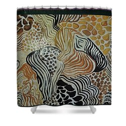 Animal Print Floor Cloth Shower Curtain by Judith Espinoza