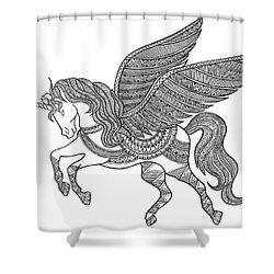 Animal Unicorn Shower Curtain