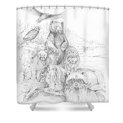 Animal Wisdom Shower Curtain