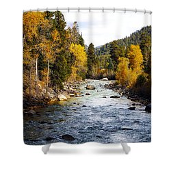 Shower Curtain featuring the photograph Animas River by Kurt Van Wagner