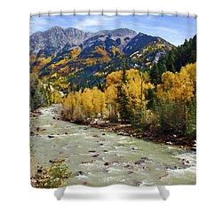 Shower Curtain featuring the photograph Animas River San Juan Mountains Colorado by Kurt Van Wagner