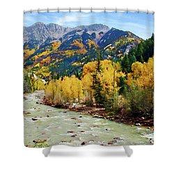 Shower Curtain featuring the photograph Animas River San Juan Mtns, Co, Panorama by Kurt Van Wagner