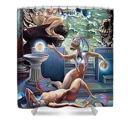 Animus Dimensio Temporum Shower Curtain by Patrick Anthony Pierson