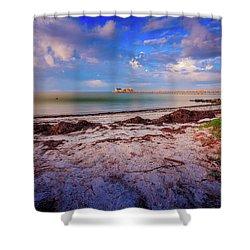 Shower Curtain featuring the photograph Anna Maria City Pier by Doug Camara