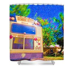 Anna Maria Elementary School Bus C131270 Shower Curtain