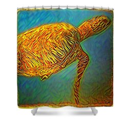 Annabelle The Turtle Shower Curtain by Erika Swartzkopf