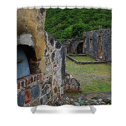 Shower Curtain featuring the photograph Annaberg Sugar Mill Ruins At U.s. Virgin Islands National Park by Jetson Nguyen
