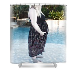 Annah Glow Shower Curtain by Ellen O'Reilly