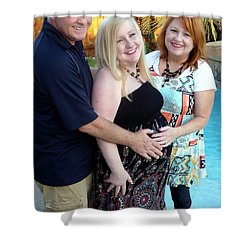 Annah With Parents Shower Curtain by Ellen O'Reilly