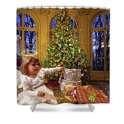 Annalise And Santa Shower Curtain