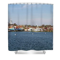 Annapolis City Skyline Shower Curtain