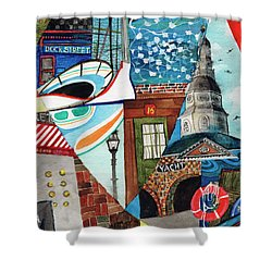 Annapolis Dock Dine Assemble Shower Curtain