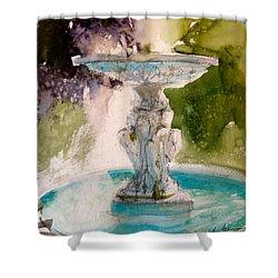 Anna's Fountain Shower Curtain by Sandra Strohschein