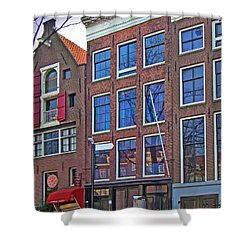 Anne Frank Home In Amsterdam Shower Curtain