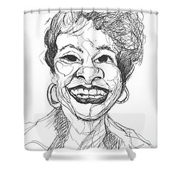 Annette Caricature Shower Curtain