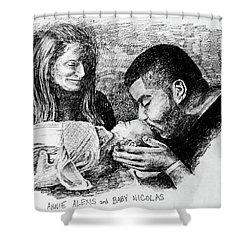 Annie Alexis And Nicolas Shower Curtain