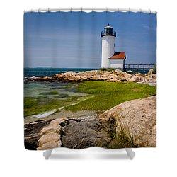 Annisquam Harbor Light Shower Curtain