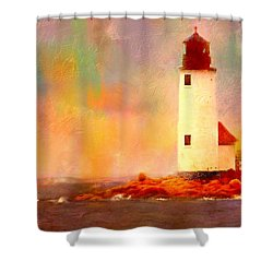 Annisquam Rainbow Shower Curtain