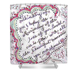 Anniversary Memorial Shower Curtain