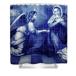 Annunciation Shower Curtain by Gaspar Avila