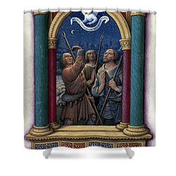 Annunciation To Shepherds Shower Curtain by Granger