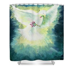 Shower Curtain featuring the painting Anointed by Lisa DuBois