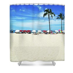 Another Beautiful Day In Waikiki Shower Curtain by Kerri Ligatich