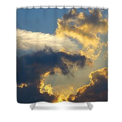 Another Beautiful Grouping Of Florida Clouds At Sunset.  Shower Curtain